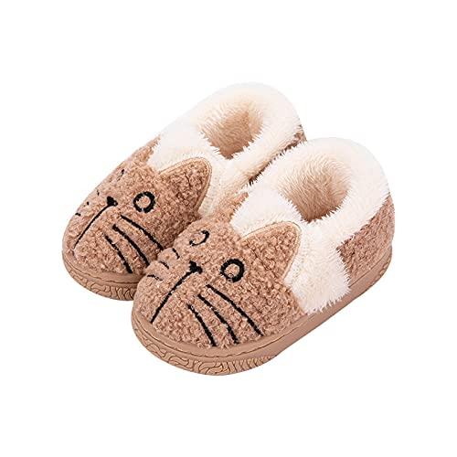 Y-PLAND Pantofole Invernali per Bambini, Scarpe da casa in Cotone per Interni, Borsa per Ragazzi e Ragazze con Pantofole in Cotone per Bambini in Peluche-4_EU21
