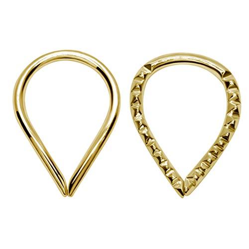 Knorpel-oorbellen – zilveren oorpiercingset – 925 zilver sterling – 2 paar piercing-oorbellen voor vrouwen – elegant en stijlvol – comfortabel design – nikkelvrij geschikt voor mensen met een allergie.