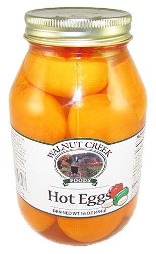 Walnut Creek Amish Hot Eggs Glass Jar
