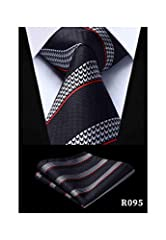 Style:Fashion,Department Name:Adult Pattern Type:Striped Ties Type:Neck Tie,Item Type:Ties Gender:Men Material:SILK,size:One Size As you know, the different computers display colors differently, the color of the actual item may vary slightly from the...