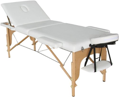 Mobile Massageliege Standard, Holz, 195 x 70 cm, 3 Zonen