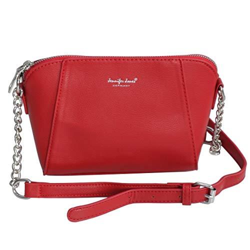 Jennifer Jones - kleine -Damen Handtasche Umhängetasche Abendtasche Ausgehtasche Schultertasche Clutch (Rot) - präsentiert von ZMOKA®