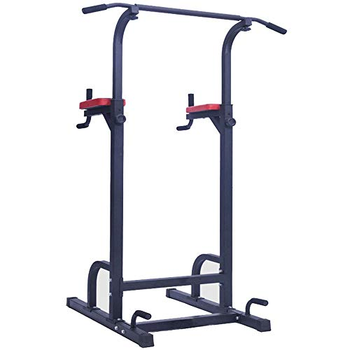 YIJIAHUI-Sport Dip Station Stehender voller Körper Chin Up Bar Power Tower Einstellbare Tauchstation Kraft Muskeltraining Fitness Workout (Farbe : Steel Color, Größe : 182 * 100 * 67cm)