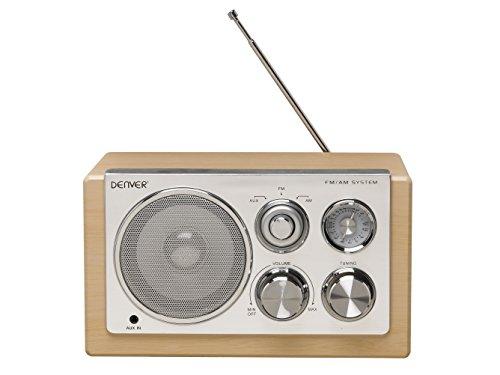 Denver 12213480 Smart Design AM/FM Radio Holz