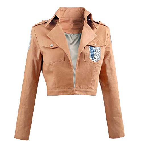 Chaqueta Attack On Titan Anime Attack on Titan Chaqueta Shingeki No Kyojin Levi Ackerman Estampada Sudadera Cosplay Anime Ropa para Mujer Casual de Manga Larga con Bolsillo (Yellow,XXL)