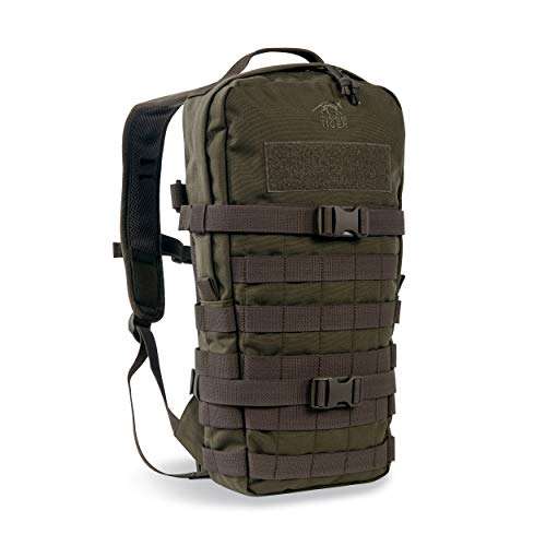 Tasmanian Tiger TT Essential Pack MKII Molle-System 9L Wander Outdoor Rucksack, Olive, 43 x 22 x 8 cm