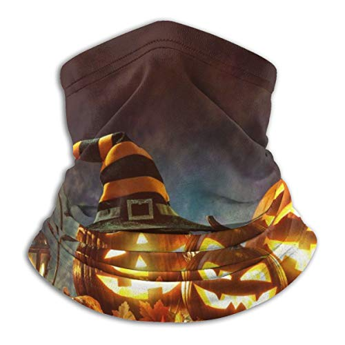 Candle Lit Halloween Pumpkins Face Cover Bandanas For Dust Scarf Neck Shields Headband Outdoor
