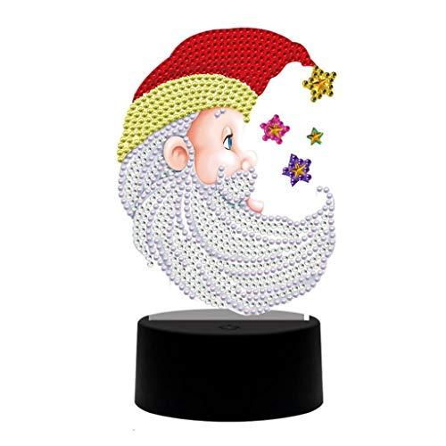 JWDYA 5D DIY Pintura De Diamante En Forma Especial 7 Colores Almohadilla De Luz Led Bordado De Diamantes Lámpara De Navidad Lámpara De Luz Nocturna Decoración del Hogar