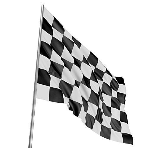 TRIXES Grand Drapeau à Damier Noir et Blanc F1 Course Automobile 5 Pieds x 3 Pieds