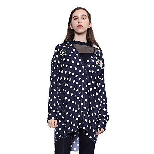 WODENINEK Lente En Zomer Trend Lange Mouwen Shirt Jurk Polka Dot Patroon Polo Kraag Medium En Lange Stijl Blouse