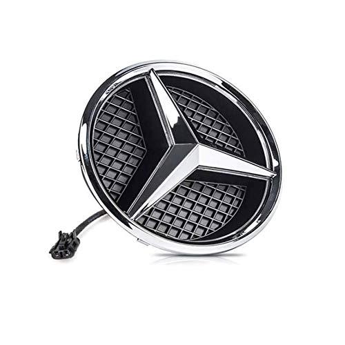 Logotipo de la Parrilla Delantera del Coche de la Estrella Emblema de LED Iluminado para Mercedes Benz C/GLK/B Clase Y Más Centro Delantero luz de la divisa de la lámpara,White Light