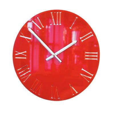 Horloge Romaine en Acrylique Rouge de Roco Verre (58cm dia )