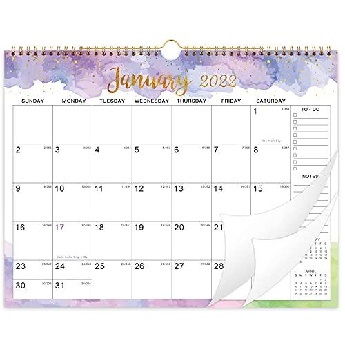 "2021-2022 Wall Calendar 18 Months - Jul. 2021 - Dec. 2022 Monthly Hanging Calendar Planner, 15"" x 11.5"", Spiral Twin-Wire Binding, Large Blocks with Julian Dates"