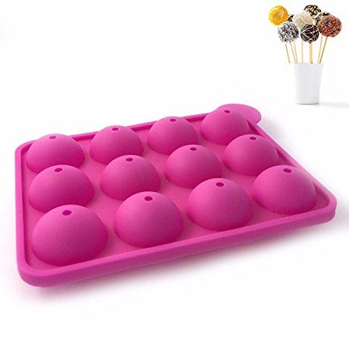 Top4pc Moule À Cake Pop pour GÂTEAU PÂTISSERIE en Silicone Souple USTENSILE DE Cuisine pour Pop Cake Rose