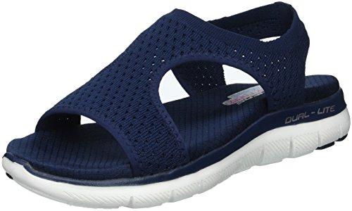Skechers Sandales Flex Appeal 2.0 - Deja Vu - Pour femme, bleu (bleu marine), 35 EU