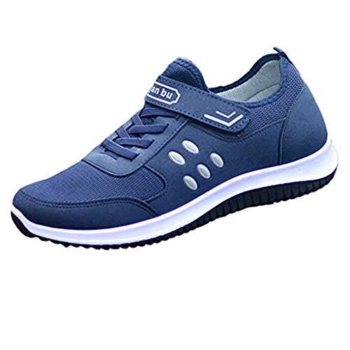 Dasongff Turnschoenen, heren, klittenbandsluiting, sneaker, heren, zwart, ultralicht, ademend, hardloopschoenen, fitnessschoenen, gymnastiekschoenen