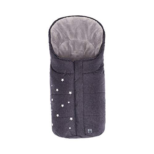 babycab Chancelière d'hiver Stars pour coque-auto et nacelle accessoires pour poussette, noir chiné