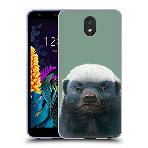 Officiële Vincent Hie Honing Das Dieren Soft Gel Case Compatibel voor LG K30 (2019)