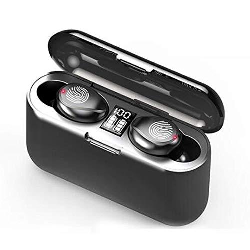 Audífonos inalámbricos Auriculares inalámbricos, IPX7 Auriculares a Prueba de Agua 5.0 Auriculares 50 HRS Tiempo Total de reproducción con Soporte de Control táctil Modo Individual y Doble