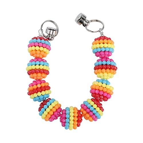 Happyyami Pulsera de Perlas DIY Pulsera de Cuentas Colgante de Teléfono para Mujer