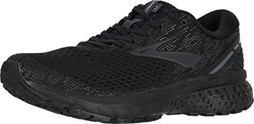 Brooks Mens Ghost 11 Running Shoe - Black/Ebony - 2E - 8.0