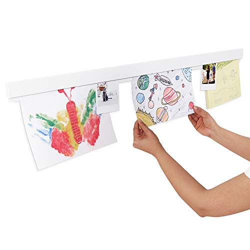 Scribble Info Rail. Aluminium display rail, 1 meter long. Perfect for home or at school where multiple rails can be connected together. (White)
