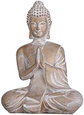 TERESA S COLLECTIONS Praying Buddha Statue Meditating Buddha Serene Decorative Figurine for product image