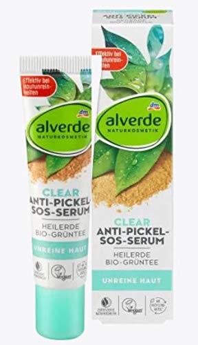 Anti-Pickel Serum | Naturkosmetik | Mit naturreiner Heilerde und Grünem-Tee-Extrakt | Wirkt antibakteriell | Reduziert Pickel effektiv | 15 ml