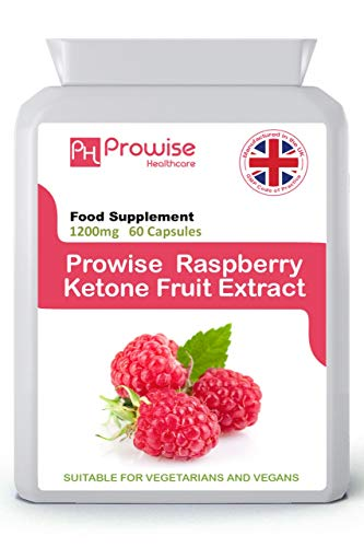 Extracto de fruta de frambuesa 1200 mg - 60 cápsulas - Fabricado en el Reino Unido | Estándares GMP de Prowise Healthcare