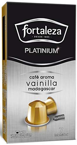 Café Fortaleza Platinium – Cápsulas Compatibles con Nespresso, de Aluminio, Café con Aroma Vainilla Madagascar, 100% Arábica, Tueste Natural, Pack 8x10 - Total 80 uds