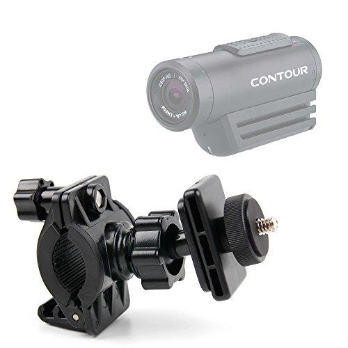 DURAGADGET Soporte para Videocámara Contour Roam 3 | Ion Air Pro 3 | Tomtom Bandit | Vivitar DVR908MFD para Manillar De Bicicleta + Adaptador con Tornillo Universal