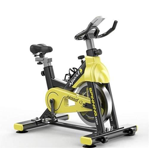 QAZXSW Indoor Cycling Bike Stationär, Sunny Health & Fitness, stationäres Fahrrad LCD-Display mit Flywheel