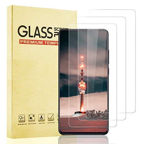 Lixuve 3 Unidades Protector de Pantalla para Xiaomi Mi 9T Cristal Templado, 9H Dureza Vidrio Templado, Sin Burbujas, Anti-Arañazos, Anti-Ace, Alta Sensibilidad