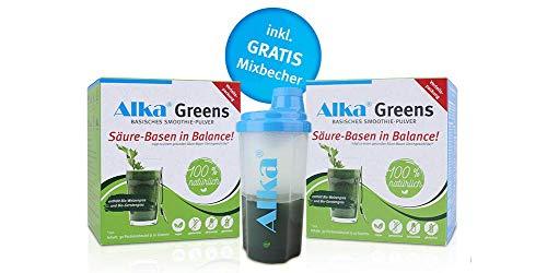 Alka® Greens Doppelpack: 2 x 30 Portionsbeutel à 10 Gramm: Basisches Smoothie-Pulver zum Entsäuern
