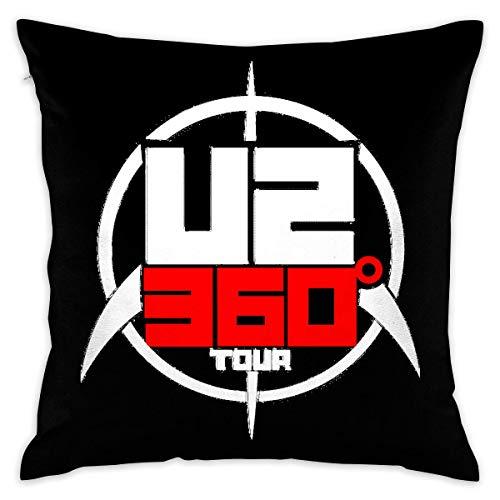 Without U2 Tour 360 Logo Decorative Lumbar Pillow Covers Case Pillowcases Kissenbezüge (40cmx40cm)