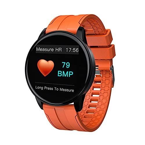 ZGLXZ Pulsera Inteligente Control De Música Tiempo Temperatura Foto Ritmo Cardíaco Presión Arterial Reloj Bluetooth para Hombres Y Mujeres para iOS Android,Rosado
