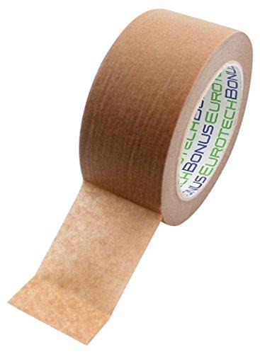 BONUS Eurotech 1BP25.60.0050/050A# Papier Verpackungsband Eco Pack, Klebstoff auf Naturkautschuk Basis, braunes gesättigtes Krepppapier, Länge 50 m x Breite 50 mm x Gesamtdicke 0,105 mm