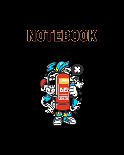 NoteBook: Fire Extinguisher Cartoon The notebook takes powerful images of the wolf character from the famous. Size 8x10 -120 pages suitable for ... Back to School and Home College Writing Notes
