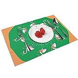 Kazogu - Set di 4 tovagliette per tavolo da pranzo per Natale e Capodanno, resistenti al calore, 4 pezzi