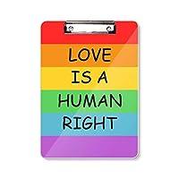 ゲイ・レズビアンの虹の旗のイラスト フラットヘッドフォルダーライティングパッドテストA4