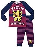 Pigiama Quidditch per bambine. Con questo stiloso pigiama di Harry Potter la tua piccola potrà mostrare di essere una vera Griffondoro, formato da una maglia con sfondo blu e rosso borgogna e ai pantaloni a strisce abbinati. La maglia ha una stampa d...