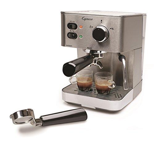Capresso 118.05 EC PRO Espresso and Cappuccino Machine, New, Silver