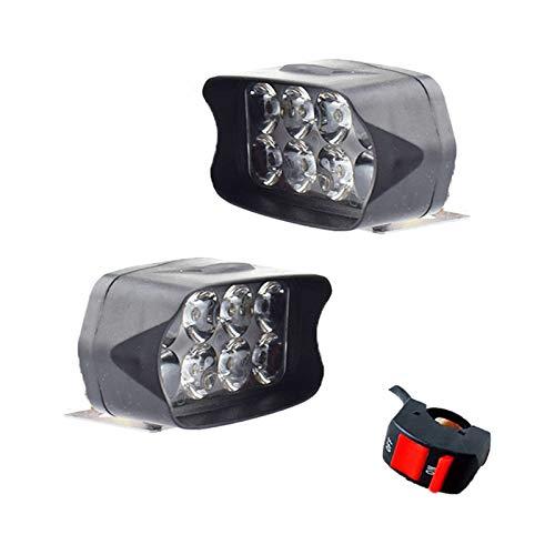 XIAOYAFANG Hxfang Faros de la Motocicleta 12V Focos Focos Brillantes Moto Fog Lámpara de Punto Impermeable Moto Auxiliar Luces de conducción Ahora Caliente (Color : Black)