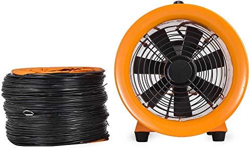 ZGYQGOO Industrielle Dunstabzugshaube Gebläse 10 Zoll Luftventilator Gebläse Hochleistungs tragbare 2800 U/min Industrielle Hochgeschwindigkeits-Gebläse (10 Zoll Gebläse mit 10 m Kanal)