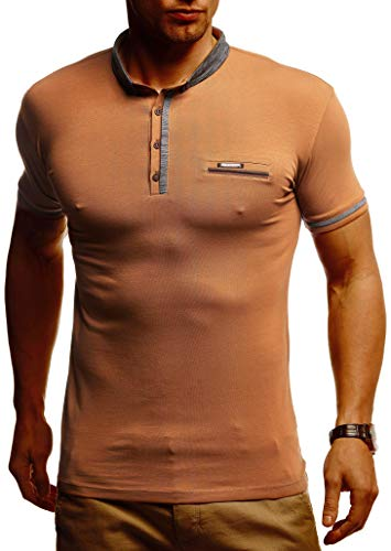 Leif Nelson Camiseta de los Hombres del Polo LN-1280