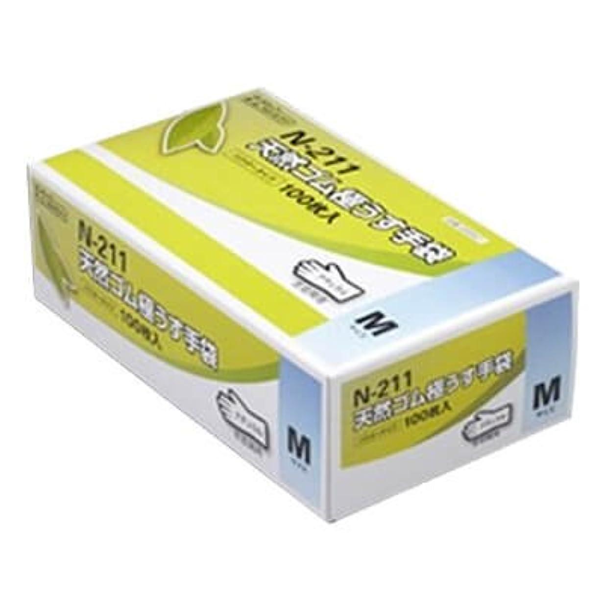 どれか尋ねるこねる【ケース販売】 ダンロップ 天然ゴム極うす手袋 N-211 M ナチュラル (100枚入×20箱)