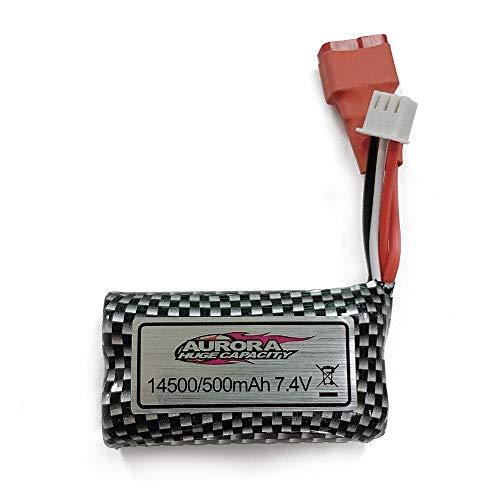 LUKAT 9145 RC Autos Ersatzbatterie, wiederaufladbare Ersatzbatterien für ferngesteuertes Auto Li-Ion 7.4V 500mAh