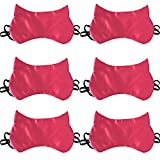 HappyDaily Beautiful and Comfortable Cat Sleep Masks - Set of 6 (Rose Red)