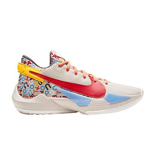 Nike Zapatos Hombre Zoom Freak 2 Letter Bro CW3162-001, (Arena del desierto/vela/Camellia/Gym Red), 47.5 EU