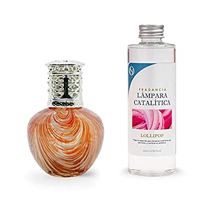 Anti-humidité Pack Lampe catalytique Orange Waves 100 ml + Parfum d'ambiance (Lollipop, 500 ml)